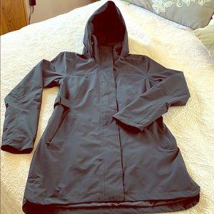 The Northface Navy long weather jacket sz S